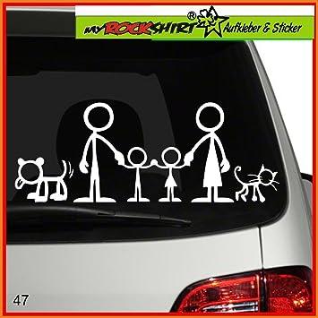 Lustige Familie Mit Hund Und Katze Aufkleber Ca 25 Cm Breite
