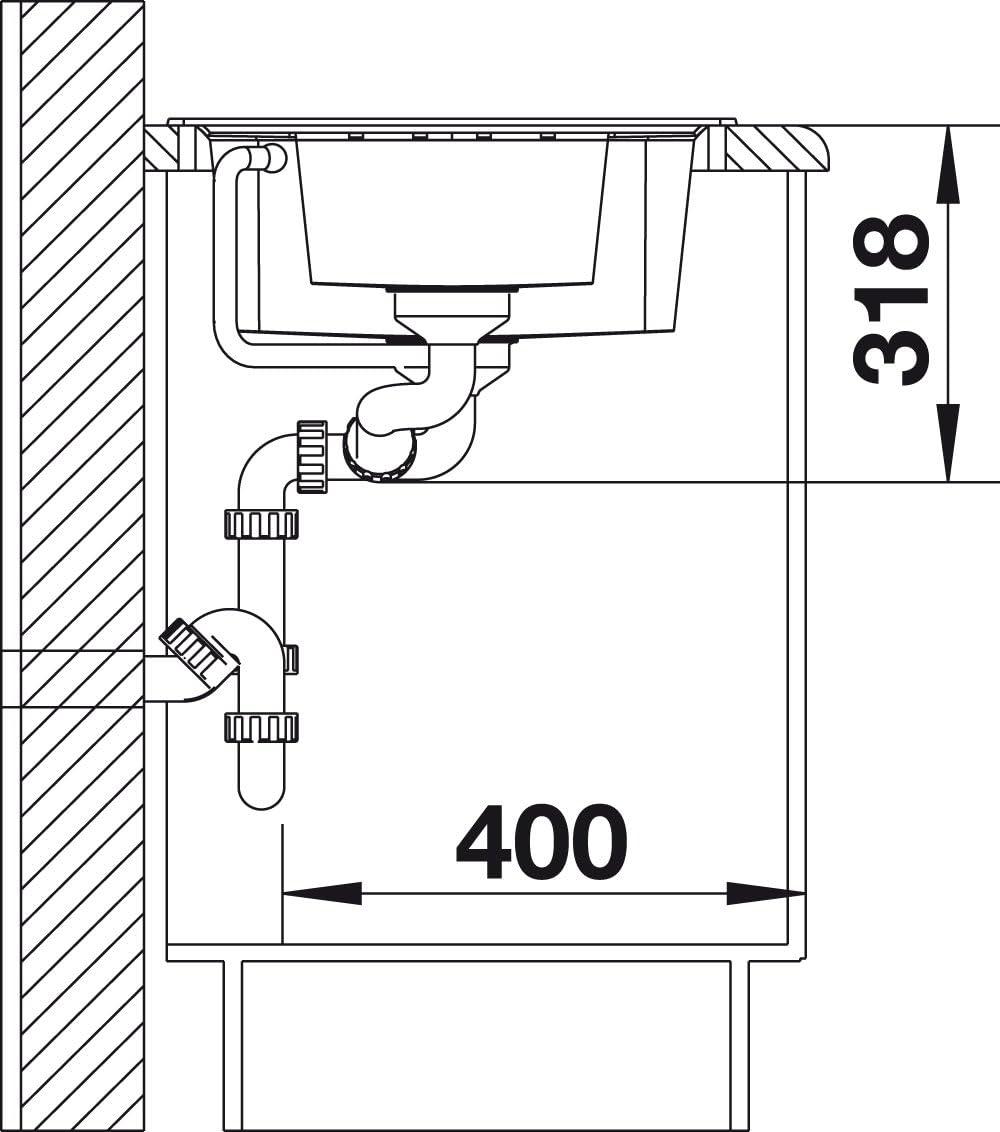 muskat; 521877 K/üchensp/üle Granitsp/üle aus Silgranit Puradur Blanco Lexa 8 S
