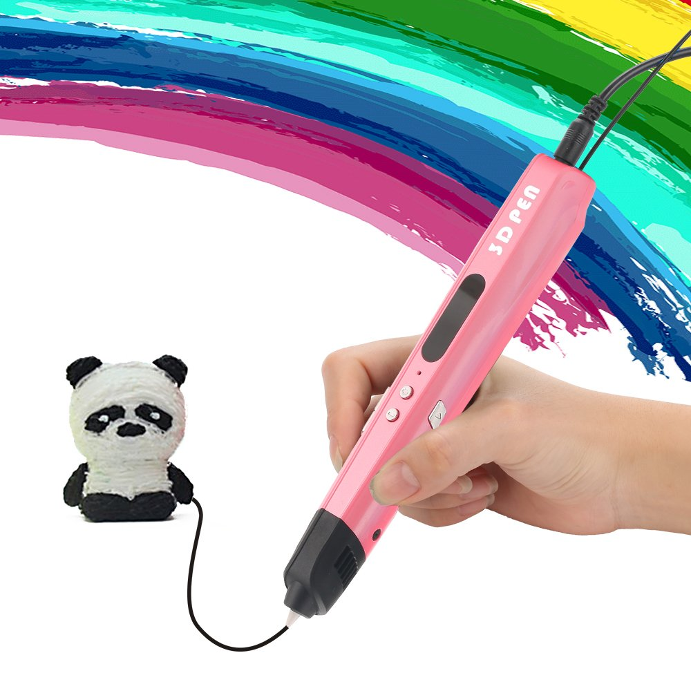 3D Pen Baisili 3D Drawing Printing Doodler Pen for Kids with LED Display and Toys for Boys & Girls, No Mess, Non-Toxic. (Pink) Ltd 4336946015
