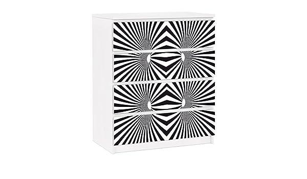 Apalis Vinilo Adhesivo para Muebles IKEA - Malm Dresser 4xDrawers ...