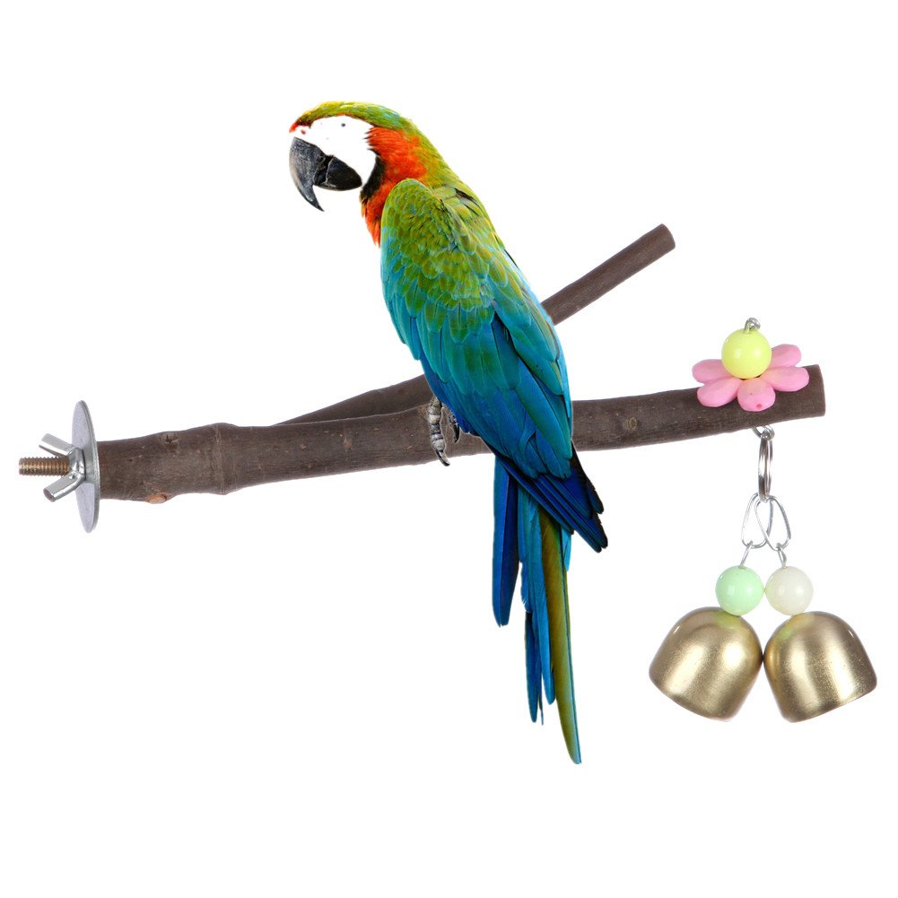Bird Perch, Nature Wood Stand Toy Branch for Parrots Cages Toy Onemore Choice