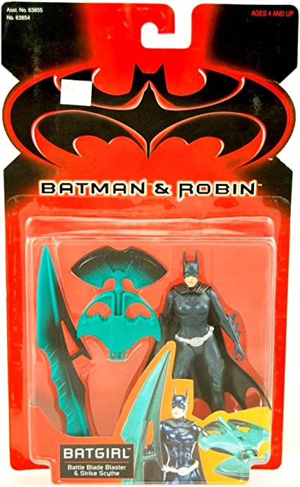 Amazon Com Batman And Robin 1997 Series 5 Inch Tall Action Figure Batgirl With Battle Blade Blaster And Strike Scythe Toys Games