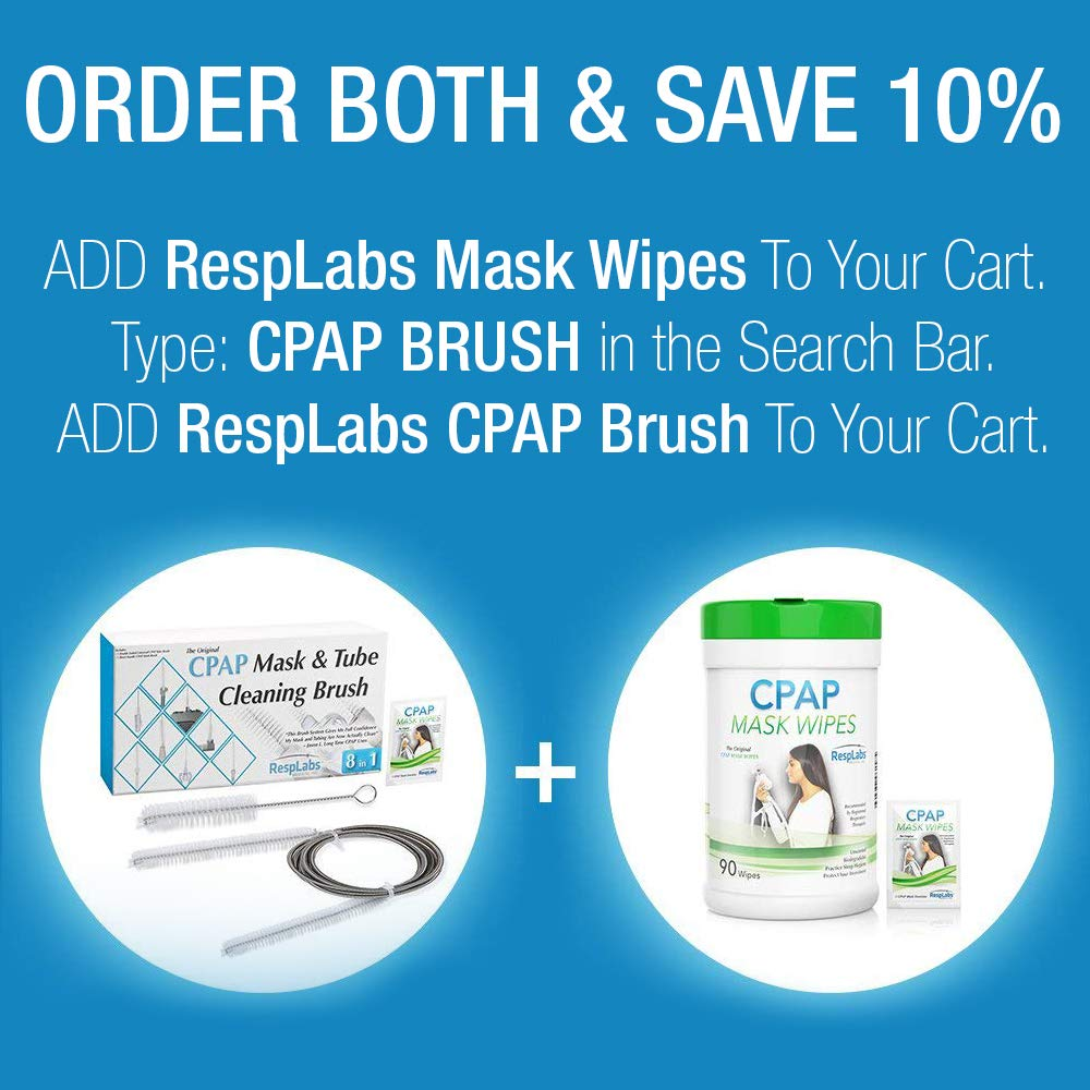 CPAP Mask Cleaning Wipes - 90 Pack + Travel Wipe | The Original Unscented Cleaner and Sanitizer for Masks | Equipment & Machine Supplies by RespLabs by RespLabs Medical Inc. (Image #5)