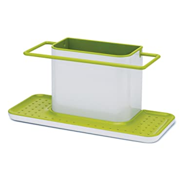 Joseph Joseph 85049 Sink Caddy Kitchen Sink Organizer Sponge Holder Dishwasher-Safe, Large, Green