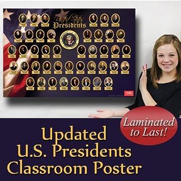 Amazon.com : U.S. Presidents Classroom Poster : Prints : Office ...