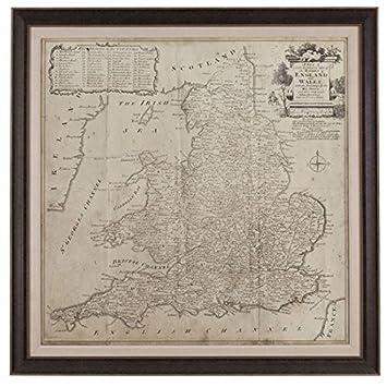 Amazoncom Bassett Mirror 9900250EC Road Map of England  Wales