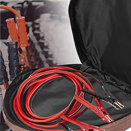 EV Charging Cables,Easily Fits 25ft 2-gauge Jumper Cables,Extension Cable Tote Organizer Cords 14 Jumper Cable Bag and Hoses 600D Oxford Cloth Waterproof Cable Bag for Cables
