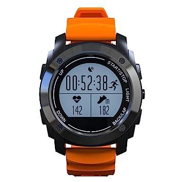 Profesional Reloj Deportivo con Monitor dealtidud y temperatuta presion Smartwatch con GPS Monitor de sueño Podometro Compatible con Andriod y IOS ...
