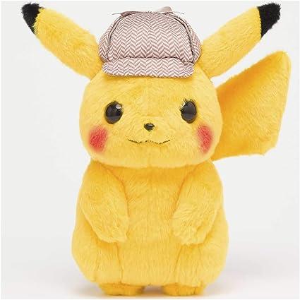 Amazon Com Pokemon Center Detective Pikachu Poke Plush 8 Inch Toys Games