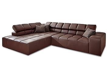 Designer Leder Ecksofa Candy Oregon Sofa 3c Polstersofa Couch Mit