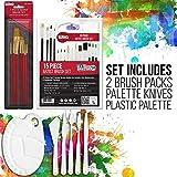 U.S. Art Supply 62 Piece Acrylic Painting Kit with
