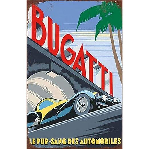 SALWON Bugatti -Cartel De Chapa Advertencia Placa Metal ...