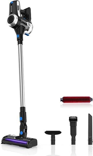 Opinión sobre Dcenta Aspirador Sin Cable, Aspirador Ultraligera Escoba Vertical y de Mano 2 en 1, Aspirador 350W, Duración de la Batería es Larga