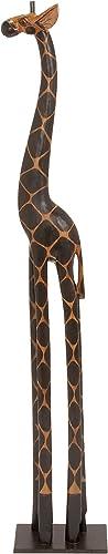 Deco 79 Wooden Giraffe, 40-Inch