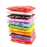 NiceButy, palline colorate Styrofoam decorative, fai da te, per Slime fatto in casa, lavoretti dei bambini, matrimoni e feste (una confezione, multicolore)