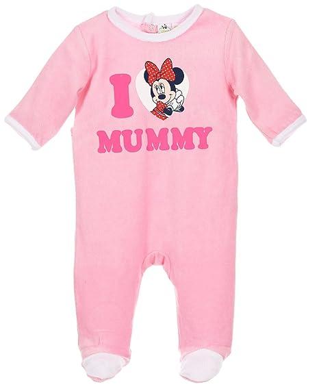 0b274d3f2c4cb Pyjama bébé fille Minnie  I love Mummy  Rose de 3 à 23mois (6 mois ...