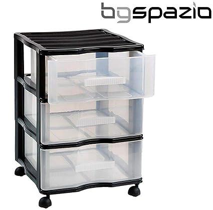 BG Spazio Cajonera Oficina Carro peluquería 3 cajones con ...