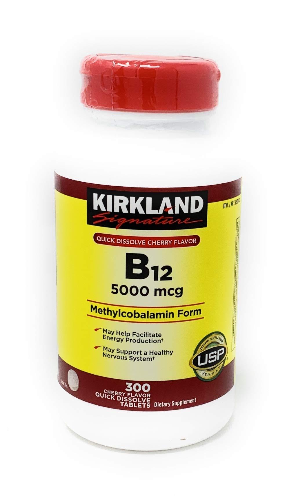 Kirkland Signature Expect More Quick Dissolve B-12 5000 mcg, 300 Tablets