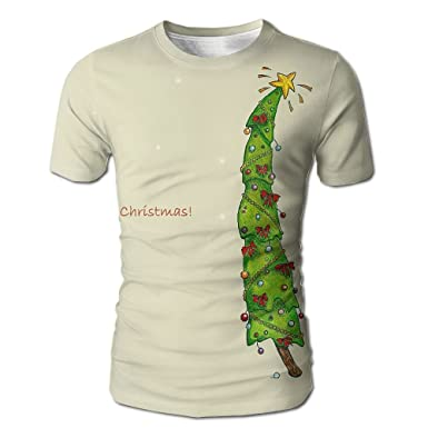 a2c7c7e7 Amazon.com: LongmiZ Christmas Tree Summer Casual T Shirt Galaxy Space  Creative 3D Printed Graphic Men Tees Top Short Sleeve: Clothing