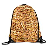 Happiness Is French Fries Fashion Drawstring Backpack Gym Sackpack For Men & Women School Travel Bag