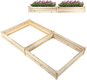 Homewell Wooden Raised Garden Bed Planter for Backyard and Patio (96 x 48 inch)