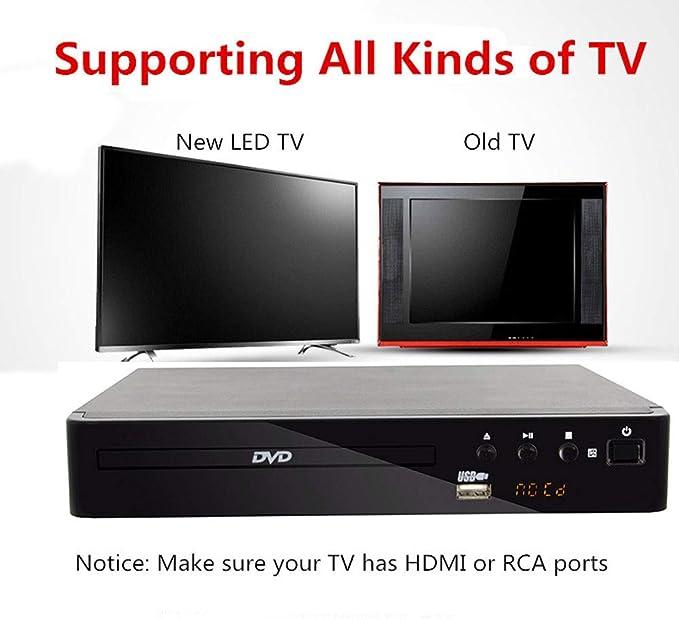 SCKL DVD HDMI USB RCA Región Libre del Jugador OSD Varios Idiomas DIVX DVD CD-RW LED Display Jugador DVD MP3: Amazon.es: Electrónica