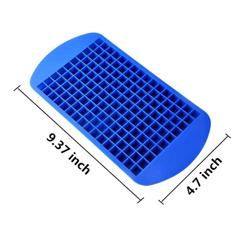 160 Grids Ice Cube Trays Mini Tiny Silicone Ice Cube Trays and Candy Grids Small Ice Maker Tiny Ice Cube Trays Chocolate Mold Mould Maker Molds for Kitchen Bar Party Drinks with Variety Color(3-Pack) by YD YD XINHUA (Image #2)