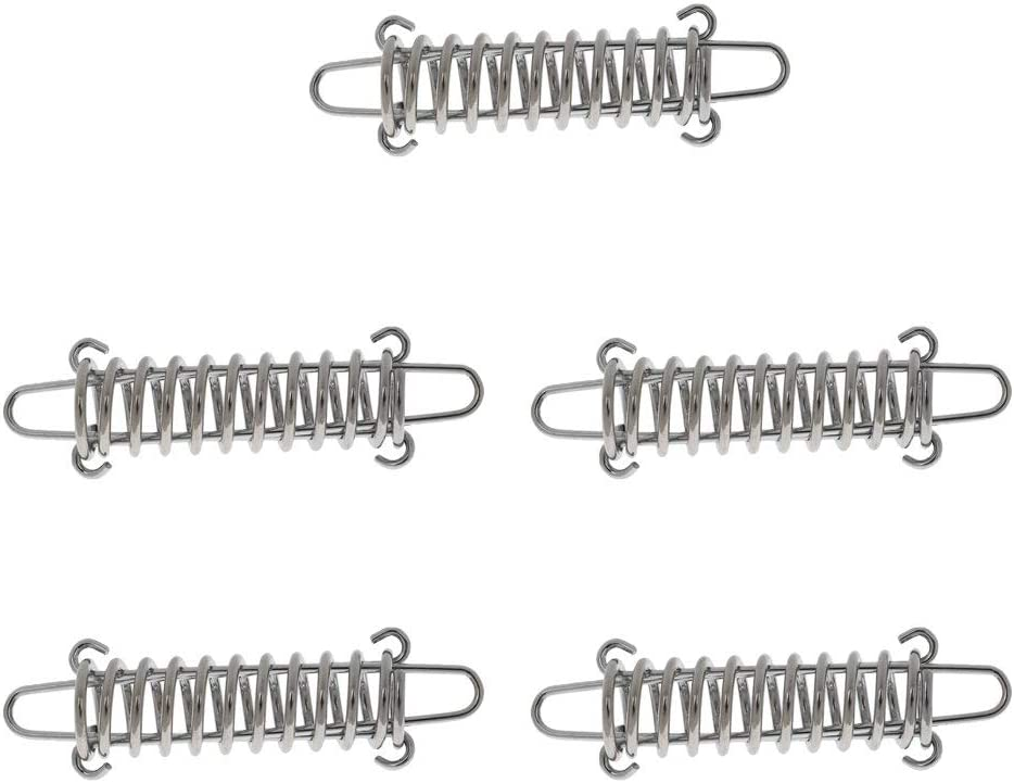 Zelt Seilspanner 6 x Spannfeder Zugfeder für Sonnensegel Federstahl DIN Boot