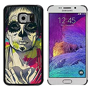 LECELL--Funda protectora / Cubierta / Piel For Samsung Galaxy S6 EDGE SM-G925 -- Juggalo Death Deep Meaning Pink Drawing --