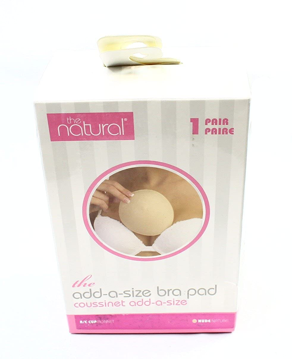 The Natural Womens Add-a-Size Push Up Pad Bra Insert