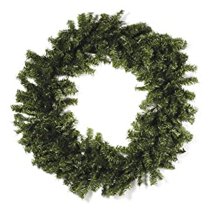 Artificial Canadian Pine Christmas Wreath - Triple Ring - 36 inches (1 pack) 35