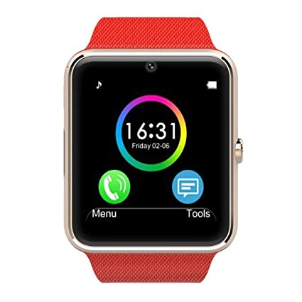 Amazon.com: GT08 Smart Watch with Camera Function Wristband ...