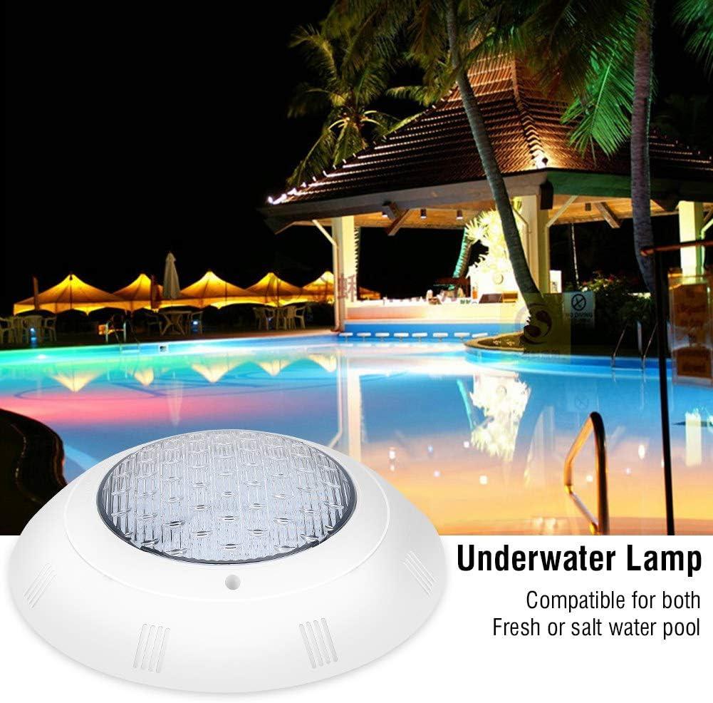 estanques para fuentes impermeable Luz para piscina RGB regulable IP68 con cables y mando a distancia foco LED subacu/ático luces LED sumergibles con 7 colores piscinas 18 W