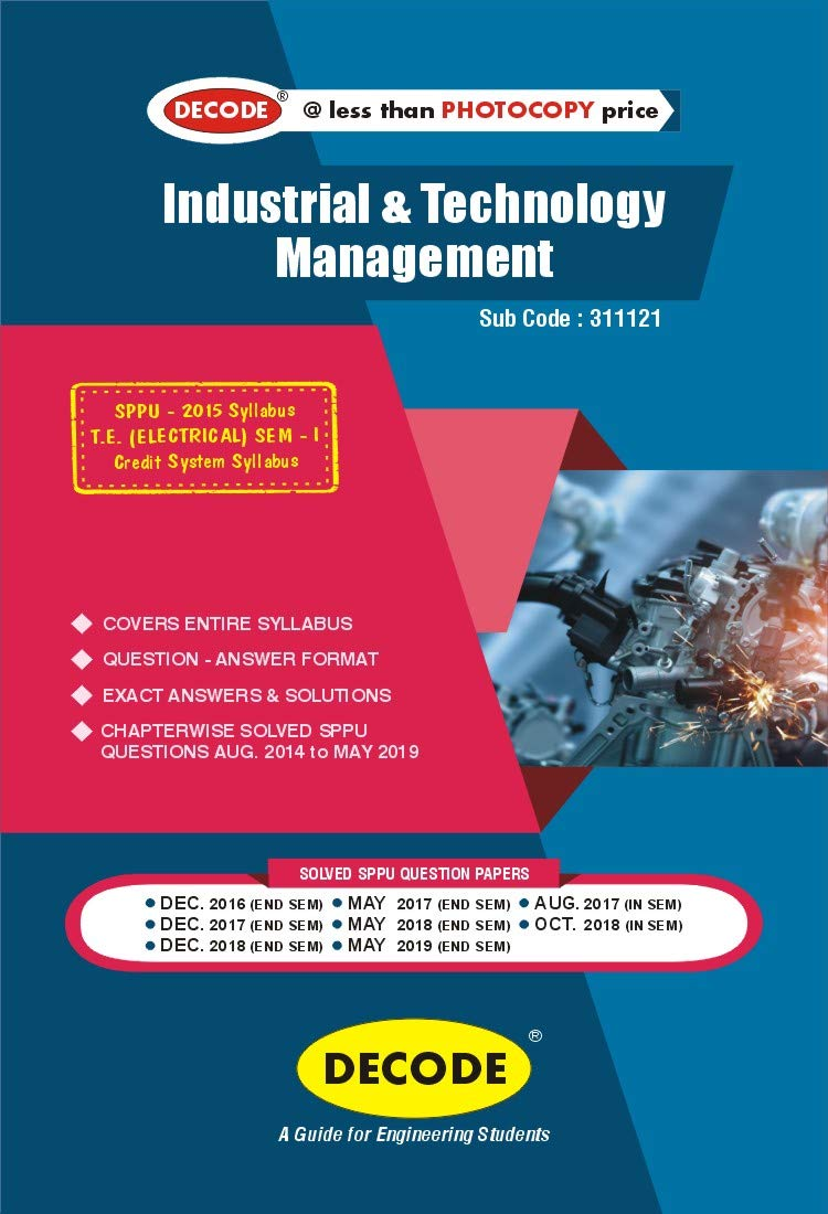 DEOCDE Industrial & Technology Management for SPPU 15 Course (TE – I – Electrical – 311121)