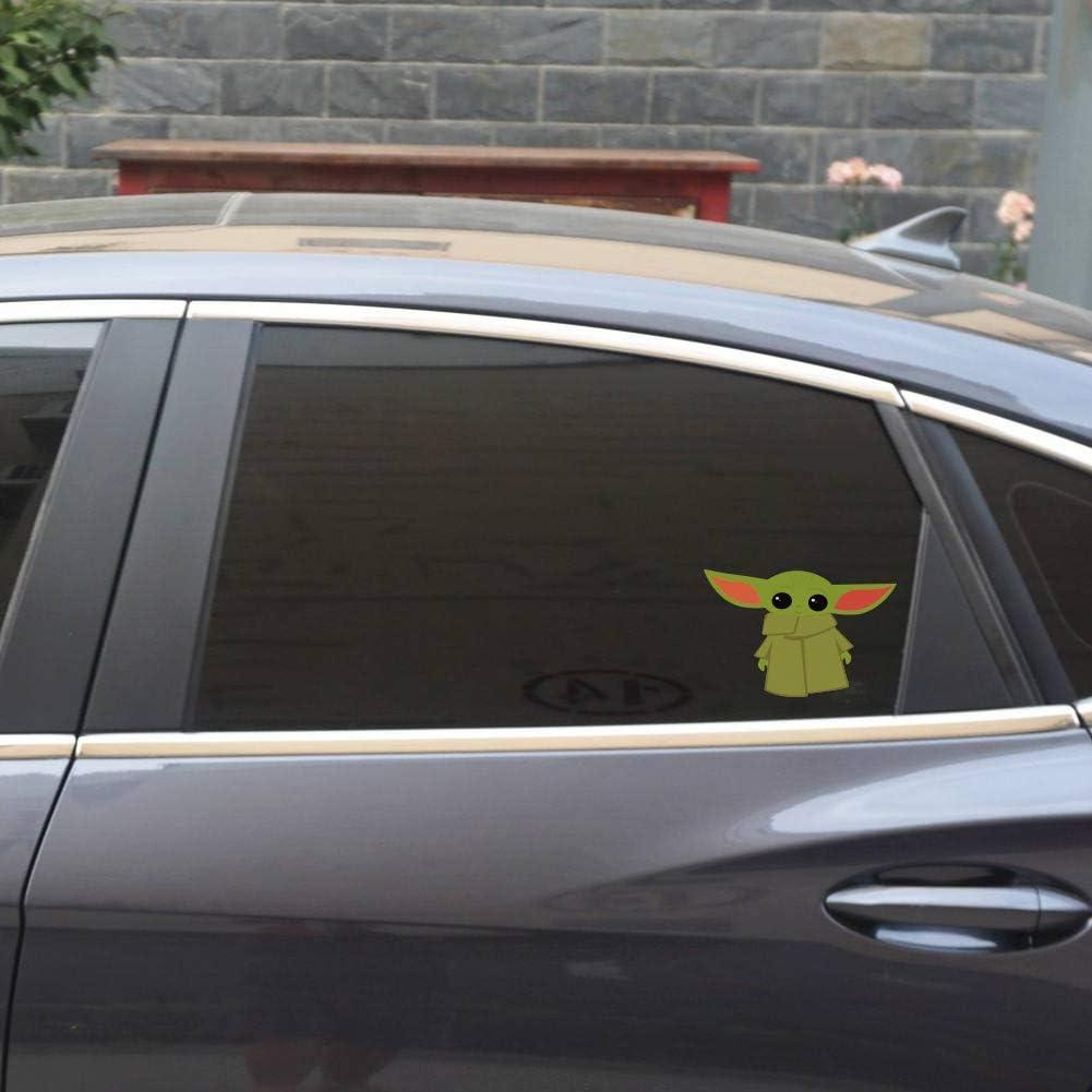 QSUM Star Wars Baby Yoda - Calcomanías de Vinilo - para automóvil, Refrigerador, Equipaje, Vehículo, Ventana, Parachoques, Computadora Portátil, MacBook, (3 Piezas, 8 cm x 12 cm): Amazon.es: Coche y moto