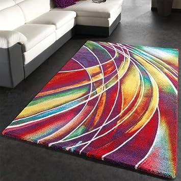 phc tapis moderne de marque egay mlange de couleurs motifs multicolore dimension120x170 cm - Tapis Multicolore