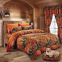 20 Lakes Woodland Hunter Camo Comforter, Sheet, & Pillowcase Set (Queen, Orange)