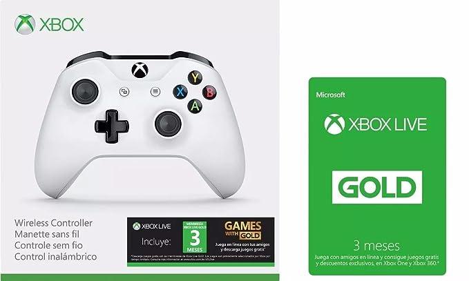Microsoft Game Studios Combo Control Inalambrico Xbox Color Blanco