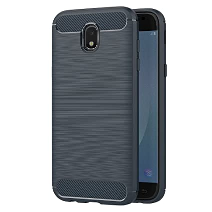 AICEK Samsung Galaxy J5 2017 Hülle, Blau Silikon Handyhülle für Samsung J5 2017 Schutzhülle Karbon Optik Soft Case (5,2 Zoll