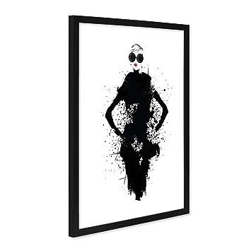 Photolini Design Poster Mit Bilderrahmen Schwarz Fashion Woman