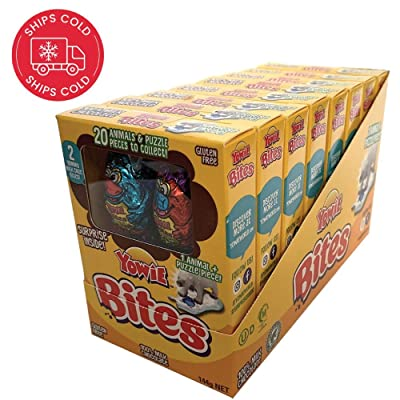 Yowie Bites Chocolate with Surprise Inside | Easter Prize | Tray of 8 Boxes | Each Box Contains 1 of 20 Animals and Habitat Puzzle Pieces to Collect | Series 1 | Fun for All Ages and Genders: Grocery & Gourmet Food