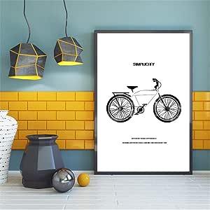 yiyiyaya Imágenes de baño Cartel nórdico Arte Motivacional