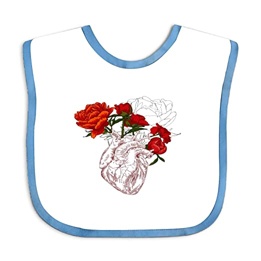 Amazon com: Baby Drawing Human Heart With Flowers Bandana