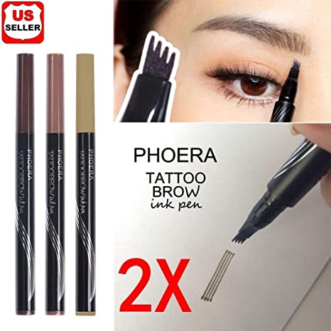 8045181f52b Buy 2Pcs Patented Microblading Tattoo Eyebrow Ink Pen Eye Brow Makeup Pencil  SR49 Online at Low Prices in India - Amazon.in