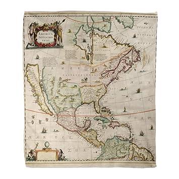 Amazon.com: Emvency Flannel Throw Blanket Vintage Old World ...