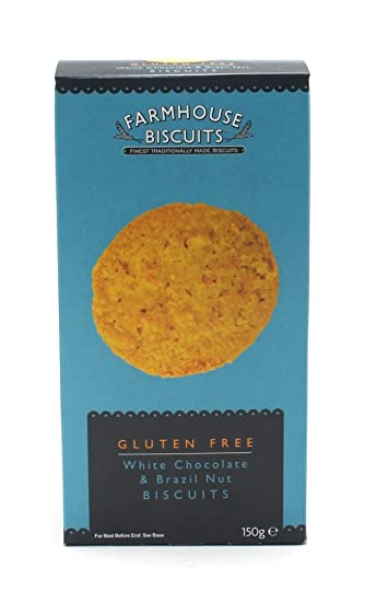 Farmhouse Biscuits Gluten Free White Chocolate & Brazil Nut Biscuits - 1 x 150 Gram
