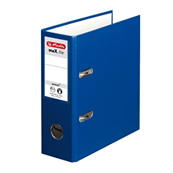 Herlitz O- Archivador de anillas A5 75 mm color azul