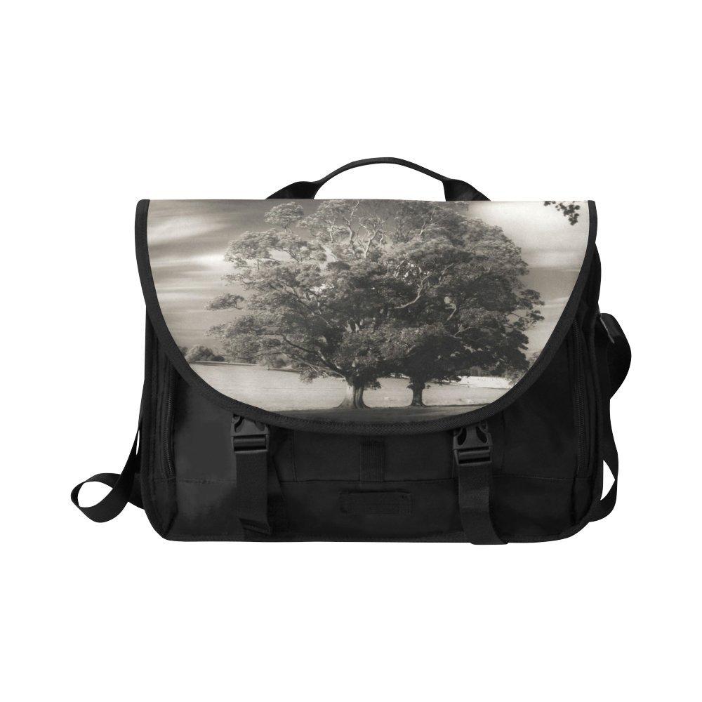 Kitchor Custom Behind The Haunted Wood Oxford Laptop Messenger Shoulder bag