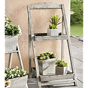 Amazon Com Foldable Wooden Plant Stand For Outdoor Or