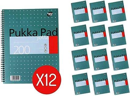 Pukka Parent Metallic Jotta - Libreta (tamaño A4), (Pack of 12 ...